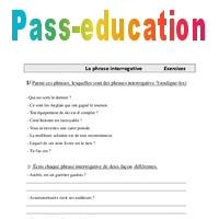 Phrase interrogative - Exercices - Grammaire : 4eme ...