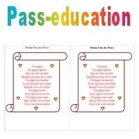 Poèmes Fête Des Pères 3eme 4eme 5eme Primaire Pass