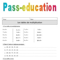 Tables de multiplication - Exercices corrigés - Calcul ...