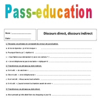 Discours Direct Discours Indirect Exercices Corriges