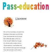 Lautomne Poésie 3eme Primaire Pass Education