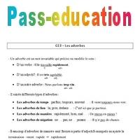 Adverbes Leçon Cm2 Grammaire Cycle 3 Pass Education