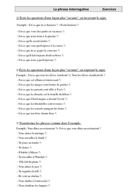 exercices faire des phrases en anglais. Black Bedroom Furniture Sets. Home Design Ideas