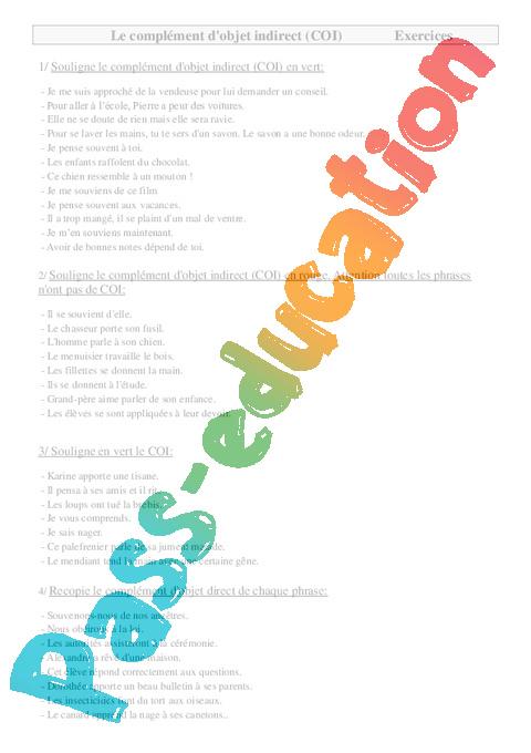 les pronoms cod coi exercices pdf