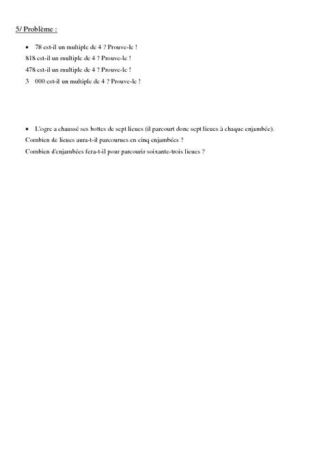 Multiples d'un nombre - Cm1 - Exercices - Calculs - Mathématiques - Cycle 3 - Pass Education