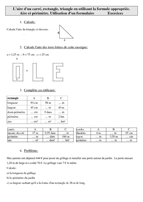 Aire d 39 un carr rectangle triangle en utilisant la - Calcul de metre carre ...