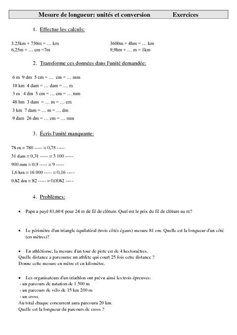 mesures de longueur unit s et conversion cm2 exercices mesures cycle 3 pass education. Black Bedroom Furniture Sets. Home Design Ideas