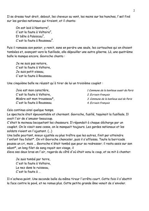 les miserables lecture 233 criture exploitation compl 232 te