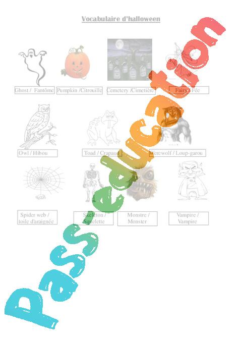 Halloween Ce2 Cm1 Cm2 Civilisation Anglaise Cycle