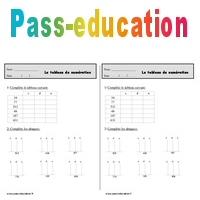 Tableau De Numération Ce1 Exercices à Imprimer Pass