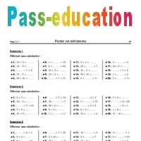 Calcul mental - 6ème - Exercices corrigés - Mathématiques - Collège - Fiches de révisions - Pass ...