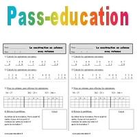 Soustraction en colonne avec retenue - Ce1 - Exercices à imprimer - Pass Education