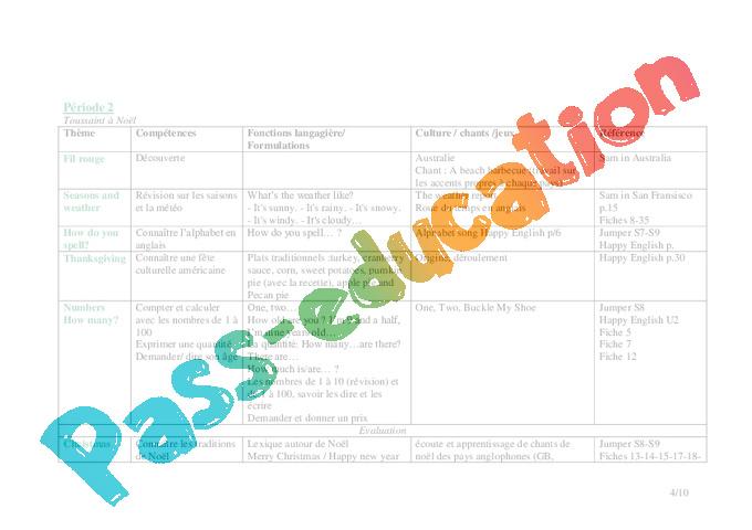 programmation anglais cm1 cm2 cycle 3 pass education. Black Bedroom Furniture Sets. Home Design Ideas
