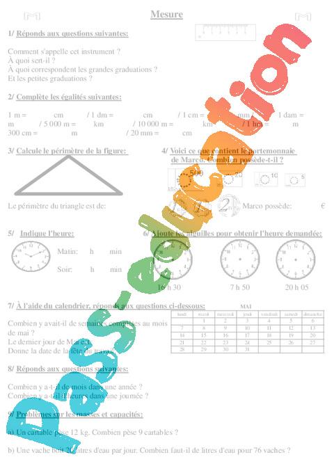 r visions fin d 39 ann e math matiques ce2 evaluation cycle 3 pass education. Black Bedroom Furniture Sets. Home Design Ideas