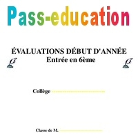 Evaluation Diagnostique 6eme Mathematiques College Pass