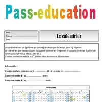 Evaluation Calendrier Ce1.Calendrier Ce1 Exercices Espace Temps Cycle 2 Pass