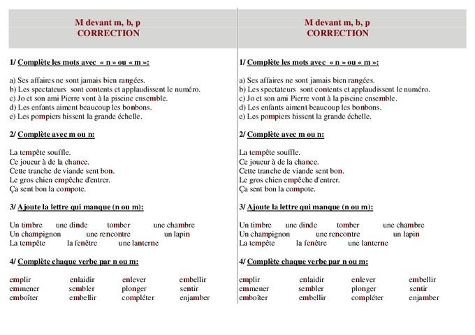 orthographe règle mbp