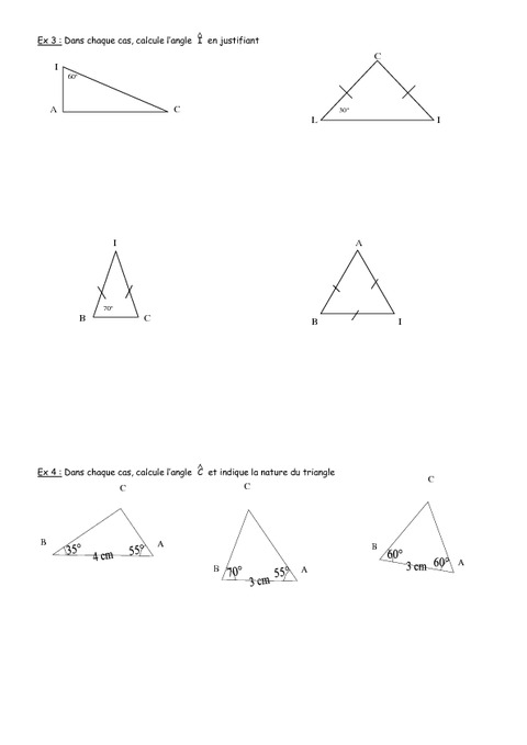 Angles - 5ème - Géométrie - Exercices - Contrôle - Mathématiques - Collège - Pass Education