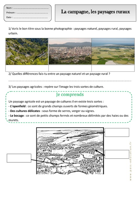 campagne - paysages ruraux