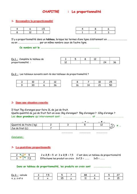 Télécharger Problème de math proportionnalité 5ème Mathématiques PDF | proportionnalité 5ème ...