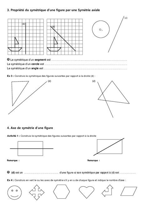 Symétrie axiale - Figures usuelles – 6ème – Géométrie ...