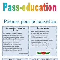 Nouvel An Poèmes Lecture Cycle 2 Cycle 3 Pass
