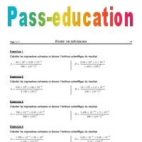 Puissances de 10 - 4ème - Exercices corrigés - Mathématiques - Collège - Soutien scolaire - Pass ...