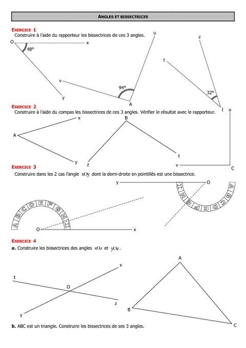 Angles - 6ème - Exercices - Correction - Collège ...