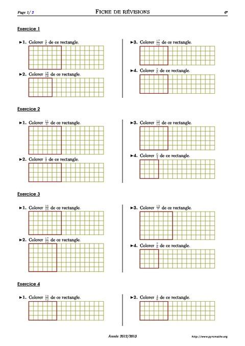Fractions - Partage - 6ème - Exercices corrigés ...