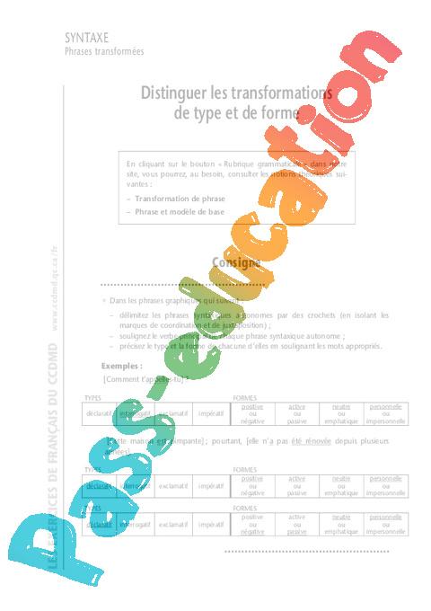 Phrases - 6ème - Cours - Exercices corrigés - Grammaire ...