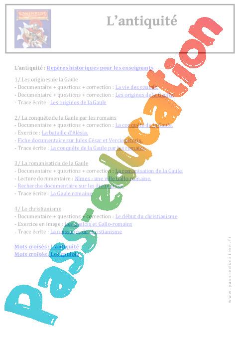 Histoire Programme Ce2 Cm1 Cm2 Exercices Evaluations