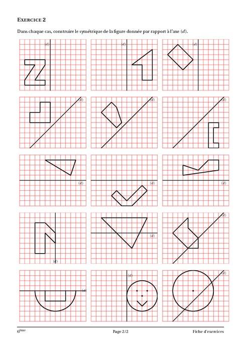 Symétrie axiale – 6ème – Géométrie - Cours – Exercices ...