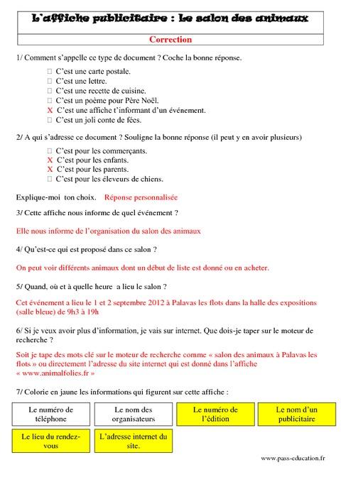 une affiche publicitaire  u2013 lecture - textes prescriptifs  fonctionnels  u2013 cycle 3