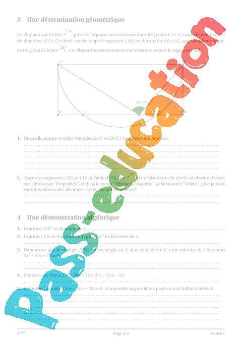 Equations et in quations 3 me cours exercices coll ge math matiques pass education - Mot de la meme famille que fleur ...