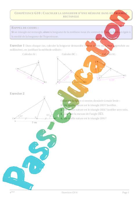 Triangle rectangle cercle circonscrit 4 me g om trie - Calculer la pente d une toiture ...
