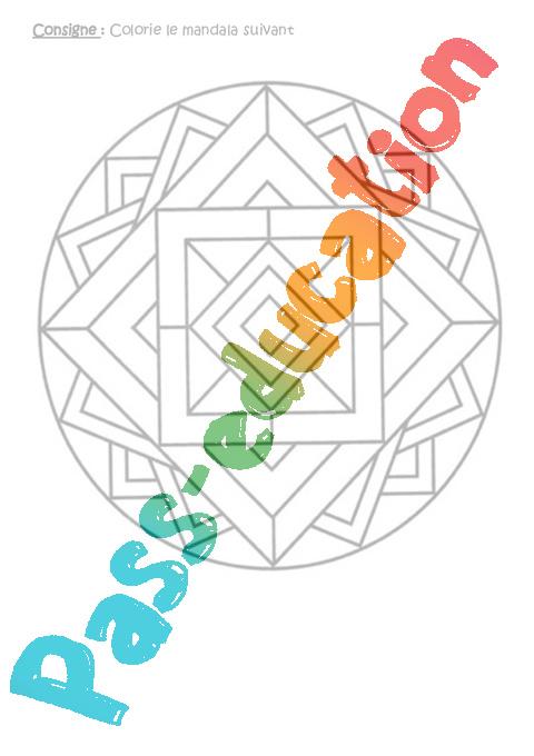 Fichier d 39 autonomie ce2 cycle 3 travail en autonomie en classe pass education - Mandalas cycle 3 ...