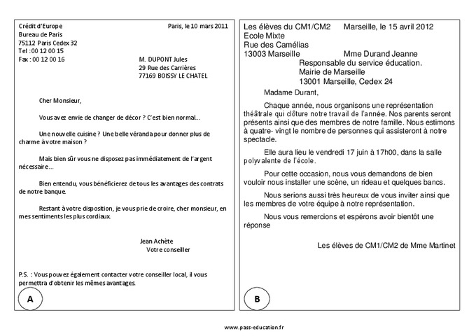 les differents types de lettre de motivation pdf