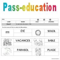 Eté - Ecriture - Maternelle - Petite section - Moyenne ...