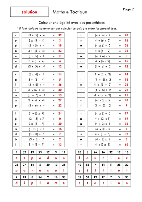 Multiplacation table comment retenir les tables de for Table de calcul