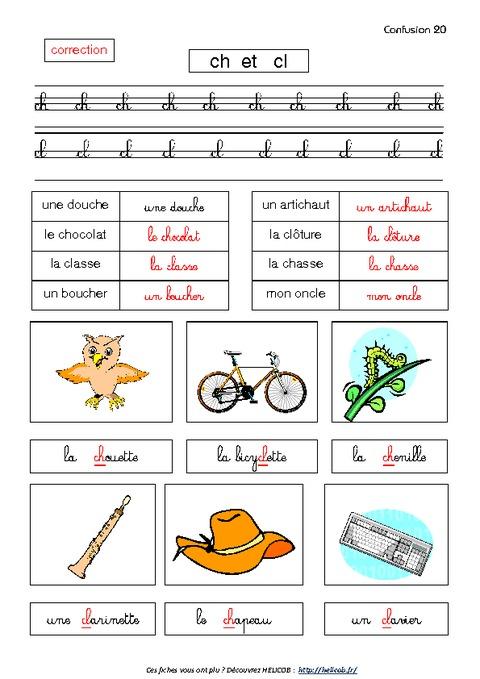 Confusion des lettres - Cp - Lecture, Ecriture - Exercices corrigés Français - Cycle 2 - Pass ...