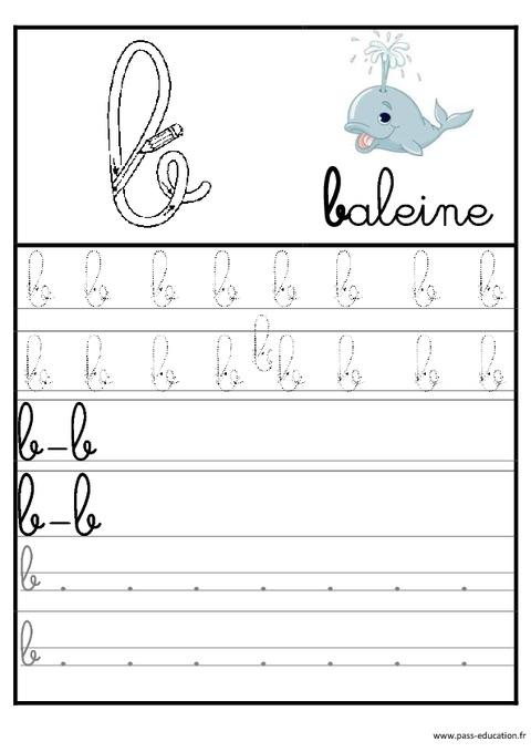 Extrêmement Lettres de l'alphabet en cursive - Ecriture - Maternelle – Grande  HJ82