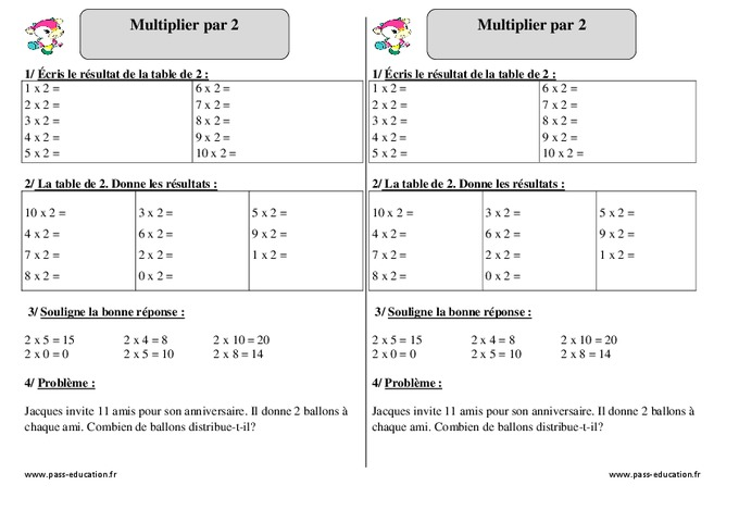 Search results for table multiplication par 5 exercices for Table de multiplication exercice