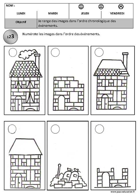 Ordre chronologique images s quentielles maternelle for Origine du mot maison