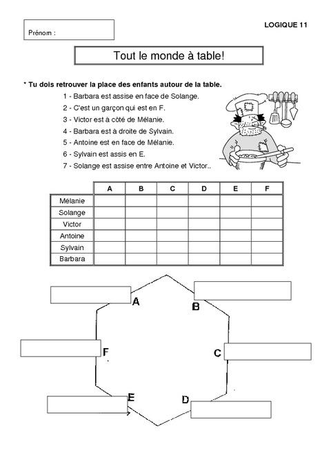 Problèmes de logique - Cm1 - Mathématiques - Exercices et ...