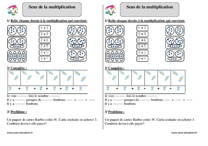 Table multiplication exercice table de multiplication for Apprendre la multiplication ce1