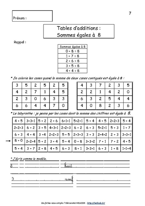 Tablamuse r vision ludique des tables calcul ce2 for Table de calcul