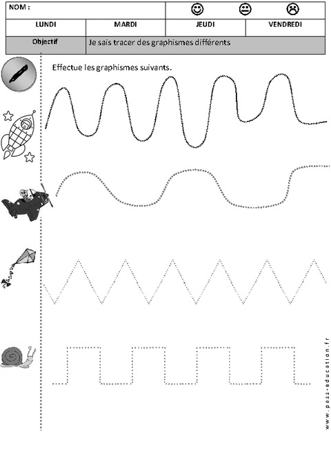 Graphisme - Maternelle - Petite section - Moyenne section - Cycle 1 - Pass Education