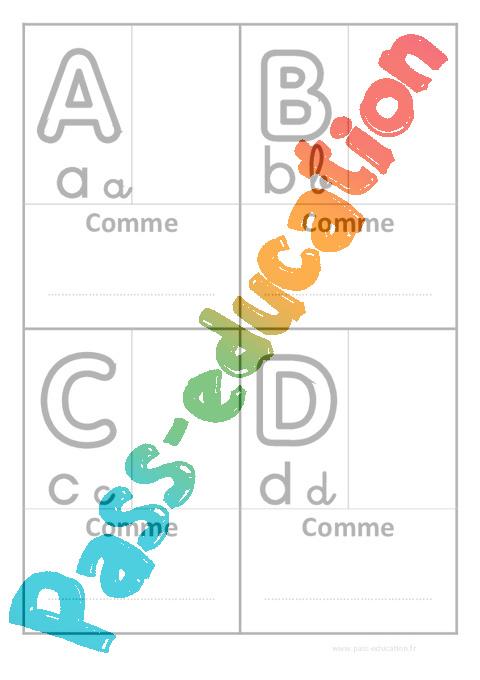 Ab c daire personnalisable 3 critures affichages pour - Image classe maternelle ...