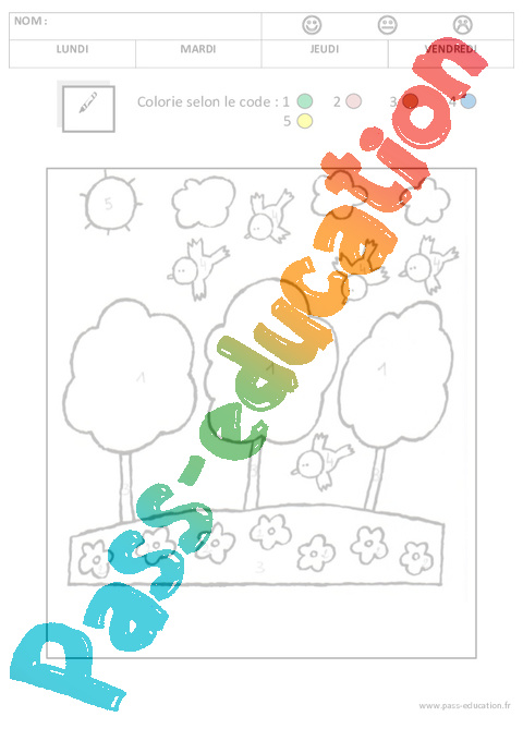 Coloriage Code Noel Ms.Coloriage Magique 1 2 3 4 5 Maternelle Petite Section Moyenne