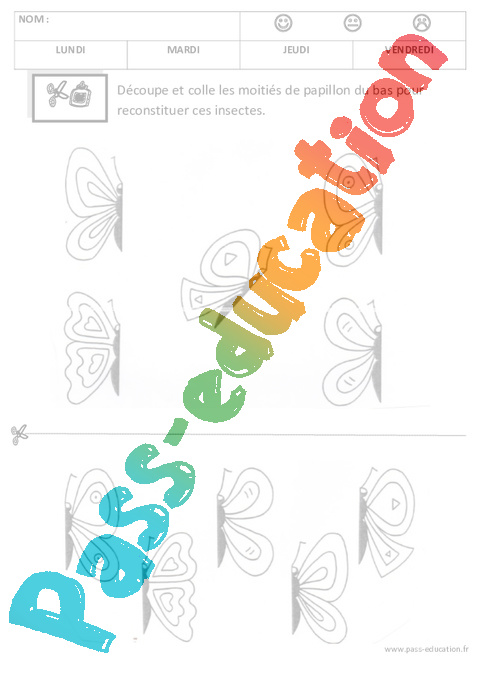 Discrimination visuelle – Lecture – Maternelle – Petite section ...
